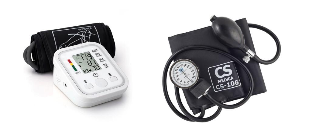 механический и электронный тонометры для измерения артериального давления